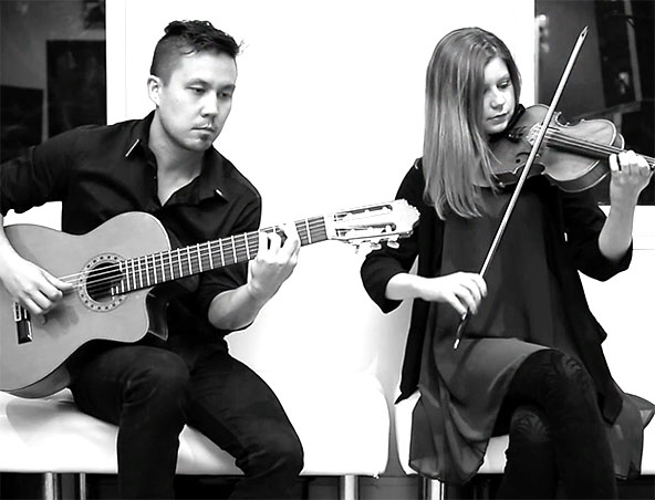 Violin and Guitar Duo Sydney - Wedding Music - Instrumental Band